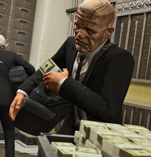 Grand Theft Auto V Heists money